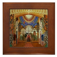 Russian Town Square Framed Tile