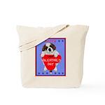 Valentine Saint Bernard Tote Bag