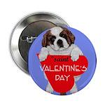 Valentine Saint Bernard Button