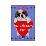 Valentine Saint Bernard Rectangle Magnet