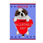 Valentine Saint Bernard Postcards (Package of 8)