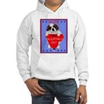 Valentine Saint Bernard Hooded Sweatshirt