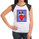 Valentine Saint Bernard Women's Cap Sleeve T-Shirt