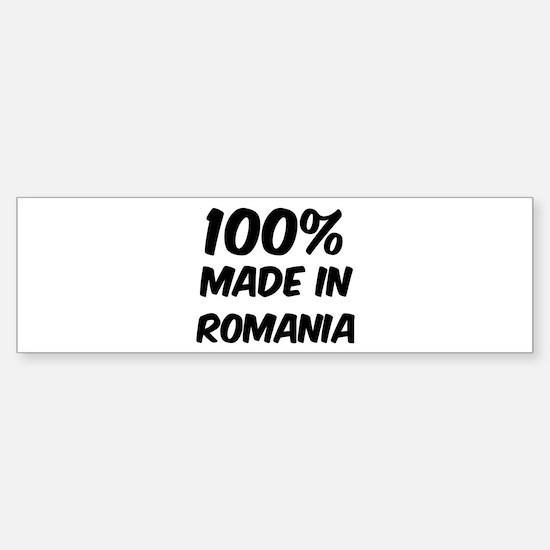 100 Percent Romania Bumper Bumper Bumper Sticker