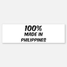 100 Percent Philippines Bumper Bumper Bumper Sticker