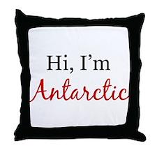 Hi, I am Antarctic Throw Pillow