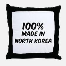 100 Percent North Korea Throw Pillow