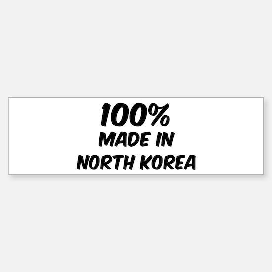 100 Percent North Korea Bumper Bumper Bumper Sticker