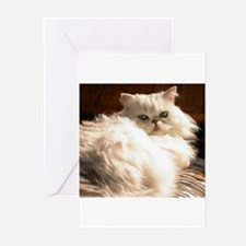 persianwht22 Greeting Cards