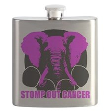 Stomp out cancer Flask