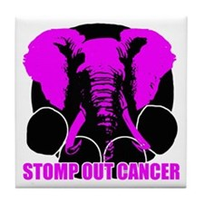 Stomp out cancer Tile Coaster