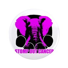 """Stomp out cancer 3.5"""" Button (100 pack)"""