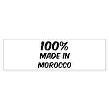 100 Percent Morocco Bumper Bumper Sticker