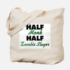 Half Monk Half Zombie Slayer Tote Bag