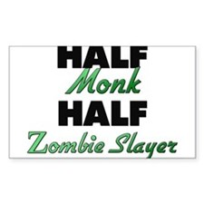 Half Monk Half Zombie Slayer Decal