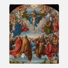 Adoration of the Trinity by Albrecht Throw Blanket