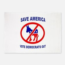 DEMOCRATS OUT 5'x7'Area Rug