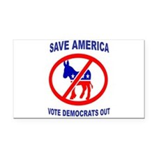 DEMOCRATS OUT Rectangle Car Magnet