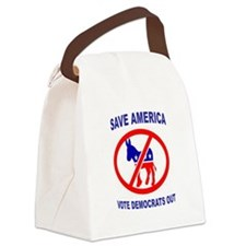 DEMOCRATS OUT Canvas Lunch Bag