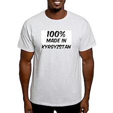 100 Percent Kyrgyzstan Ash Grey T-Shirt