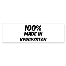 100 Percent Kyrgyzstan Bumper Bumper Bumper Sticker