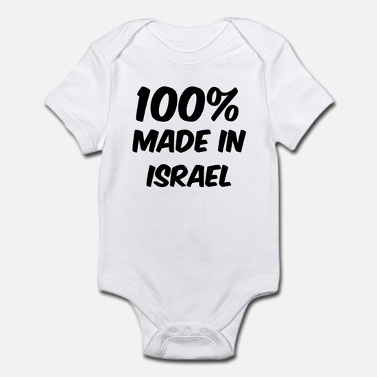 100 Percent Israel Infant Bodysuit
