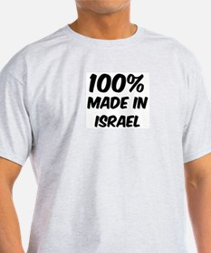 100 Percent Israel Ash Grey T-Shirt