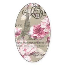 floral paris eiffel tower roses Decal