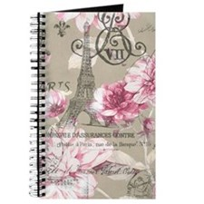floral paris eiffel tower roses Journal