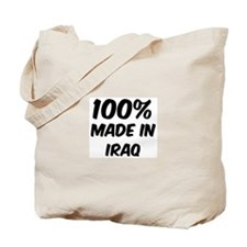 100 Percent Iraq Tote Bag