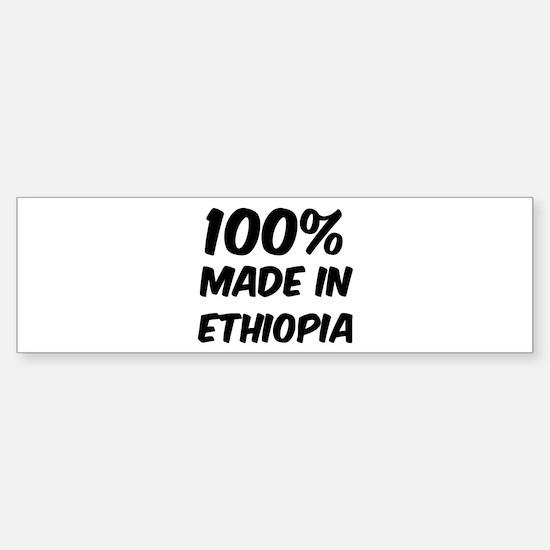100 Percent Ethiopia Bumper Bumper Bumper Sticker