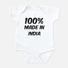 100 Percent India Infant Bodysuit