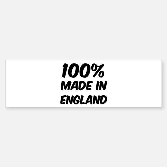 100 Percent England Bumper Bumper Bumper Sticker