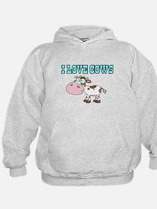 I love Cows 2 Hoodie