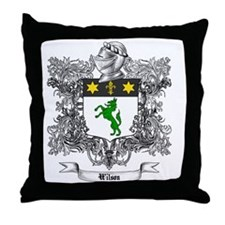 Wilson Family Crest 1 Throw Pillow
