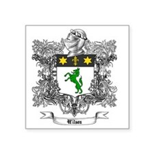 "Wilson Family Crest 1 Square Sticker 3"" x 3"""