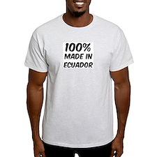 100 Percent Ecuador Ash Grey T-Shirt