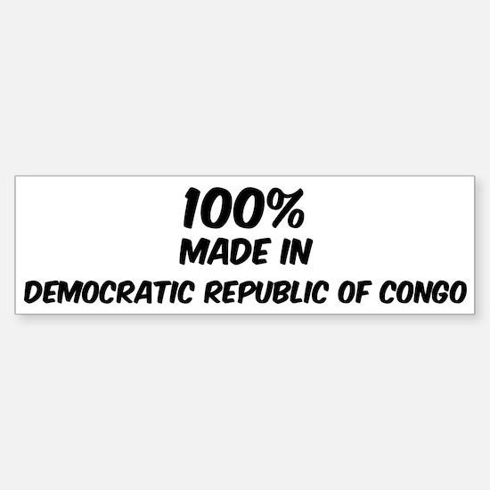 100 Percent Democratic Republ Bumper Bumper Bumper Sticker