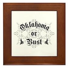 Oklahoma or Bust Framed Tile