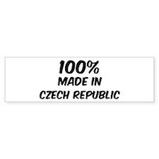 100 Percent Czech Republic Bumper Bumper Sticker