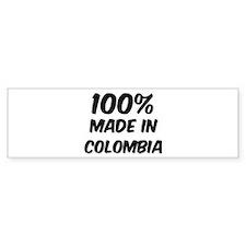 100 Percent Colombia Bumper Car Sticker