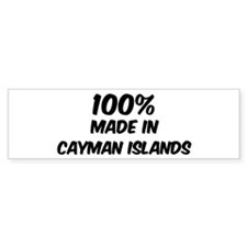 100 Percent Cayman Islands Bumper Bumper Sticker