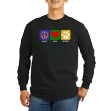Peace Love Pit Bull Long Sleeve T-Shirt