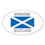 Erskine Scotland Sticker (Oval 10 pk)