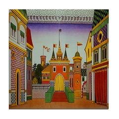 Kingdom of Tsar Dadon Tile Coaster