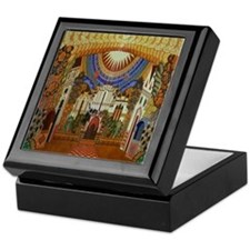 Russian Town Square Keepsake Box