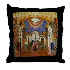 Russian Town Square Throw Pillow