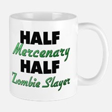 Half Mercenary Half Zombie Slayer Mugs