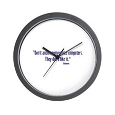 Anthropomorphize Wall Clock