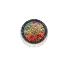 Robins with Berries Mini Button (100 pack)